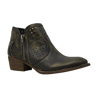 Diba True Womens Show Tunes Leather Pointed Toe Ankle Cowboy Boots