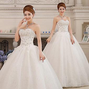 Vestidos de noiva diamante sem alças de grande porte