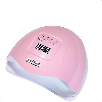 Uk plug pink uv led lamp for nails dryer - lamp for manicure gel nail lamp az9206