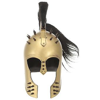 vidaXL Griechischer Krieger-Helm Antik Replik für LARP Messing Stahl