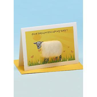 Ewe Brighten Up My Day' Handmade Sheep Card