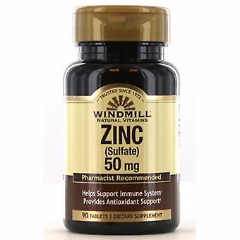 Windmill Health Zinc Sulfate, 50mg, 90 Tabs