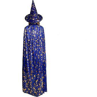 Vampires Hat Viitta Keskiaikainen Viitta Noita Viitta Naamiaispuku Cape Halloween Asut (120cm)