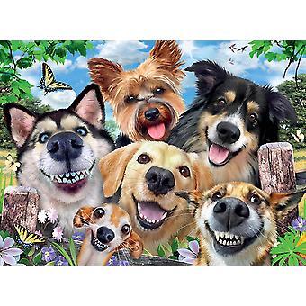 Ravensburger Selfies Koirien ilo palapeli (500 kappaletta)