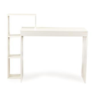 Mesa de mesa com estante - 90 x 40 x 75 cm - branco