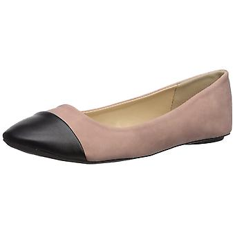 Qupid Womens Bee Leather Round Toe Ballet Flats