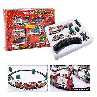 Огни и звуки Рождественский поезд Набор Железнодорожные пути Toy