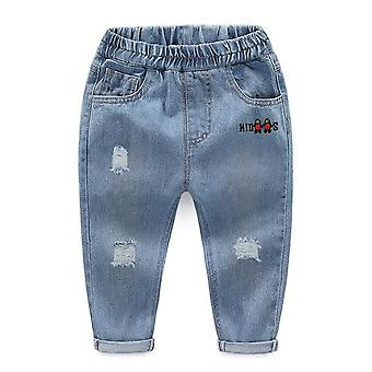 Fashion Solid Jeans Trousers Pants Denim Pants Baby Jeans Autumn