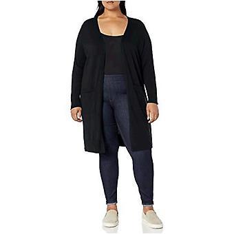 Essentials Damski plus rozmiar lekki sweter kardigan dłuższej długości