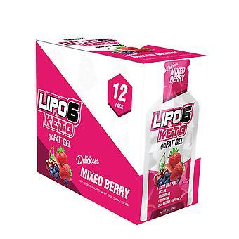 Lipo-6 Keto goFAT Gel, Mixed Berry - 12 packs