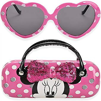 Disney Minnie egér gyerek napszemüveg fogantyúval hordozó tasak