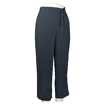 WynneLayers av MarlaWynne Dame Bukser Crepe Wrap Bukse Blå 655365