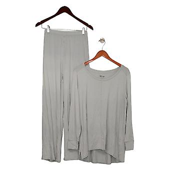 Soft & Cozy Women's Solid Long Sleeve Pajama Set Gray 627830