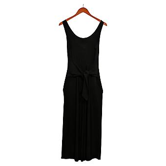 Brittany Humble Jumpsuits Tie-Front Black One-Piece 754099