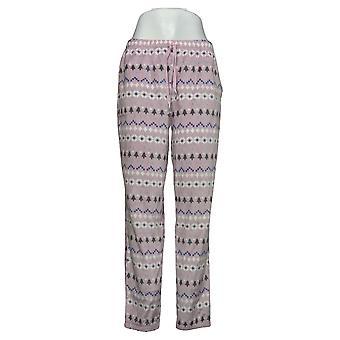 Soft & Cozy Women's Pajama Pants Christmas Print Fleece Purple 662992