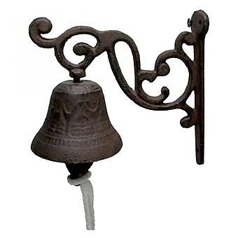 The Cast Iron Wall Clock Bracket Is Installed In The Bell-shaped Decoration On The Outside Of The House 2 Antique Doorbell Decorations