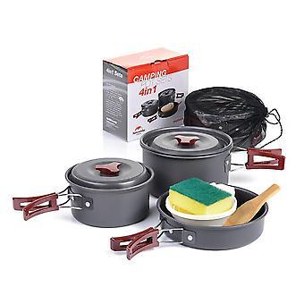 Mimigo Camping Cookware Set, camping Stove Set, draagbare Outdoor Picnic Stove Combinatie, picknick Kookgerei, Potten en Kachels Componenten