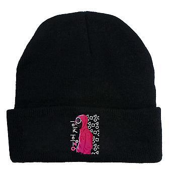 الحبار لعبة الدراما الكورية الطرفية محبوك قبعة تمتد قبعة يحافظ على الحارة