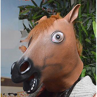 Horse Head Mask Rubber Latex Animal Costume Full Head Mask Halloween Costume Fancy Dress