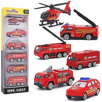 Muovi- ja metallinen paloauto lelupakkaus 6