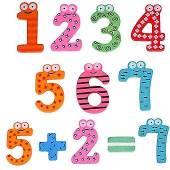 Bois Montessori Baby Number Magnets Figure Stick Mathématiques Enfants