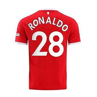男子フットボールニュージャージー・ニュージャージー・シーズンMnchester 2021-2022 ユナイテッド#28 C.ロナウドサッカージャージースポーツTシャツS-xxl
