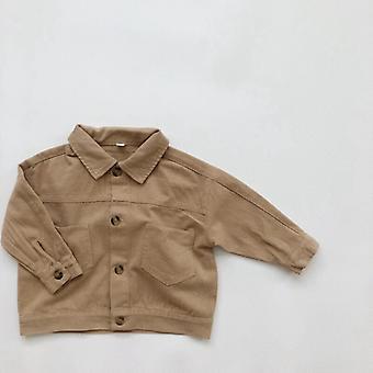 Korean Children's Retro Jacket New Shirt Tooling Jacket Boy Fall Clothes  Little Girls Clothing