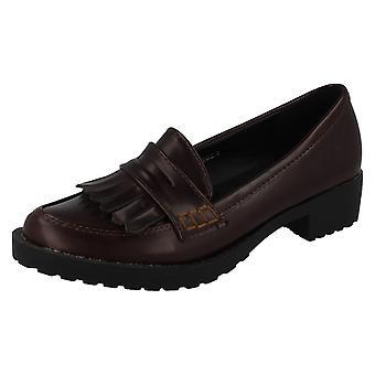 Girls Spot On Formal Loafer Flat H3034