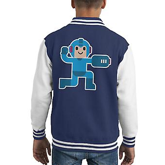 Megaman Simple Artwork Kid's Varsity Jacket