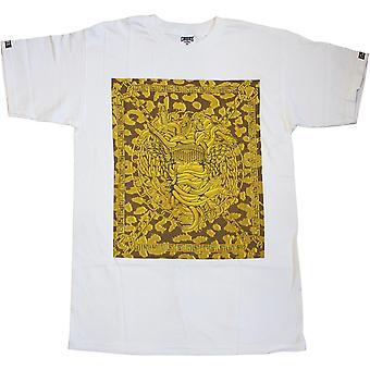 Bandidos & castelos Praça Medusa bandidos t-shirt ouro branco