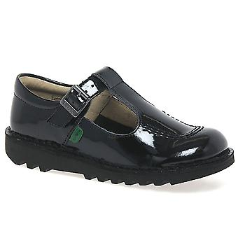 Kickers Kick T Girls Senior School Shoes