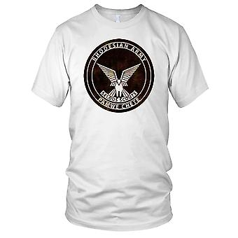Rhodesiske hæren Pamwe Chete Grunge effekt Mens T-skjorte