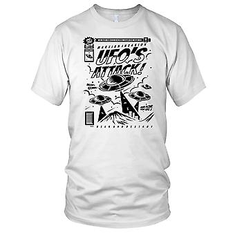 Ufoer angribe ET Sci Fi Herre T Shirt