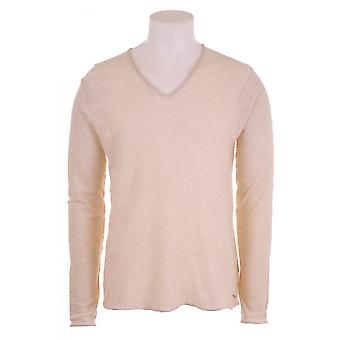 Scotch & Soda Mens Ls V Neck Dip Dyed Jumper
