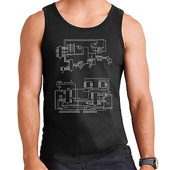 TRS 80 Computer Schematic Men's Vest
