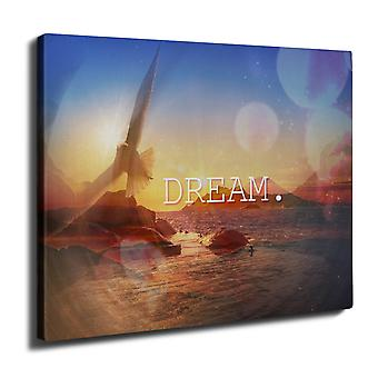 Ocean Beautiful Nature Wall Art Canvas 40cm x 30cm | Wellcoda