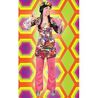 Mannen kostuums vrouwen Hippie disco broek Coral