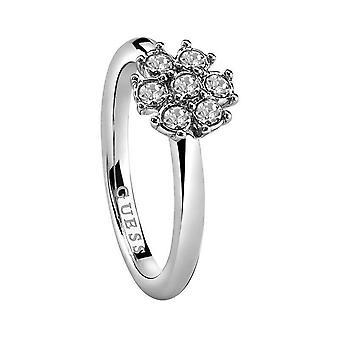 Υποθέτω γυναικεία δαχτυλίδι ανοξείδωτο ατσάλι ασημί κρύσταλλο UBR28517