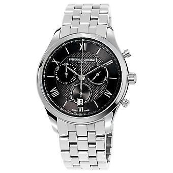 Frederique Constant Men's Classics Chronograph Stainless Steel Bracelet FC-292MG5B6B Watch
