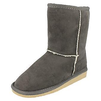 Las señoras mancha en piel sintética forrado botas de invierno