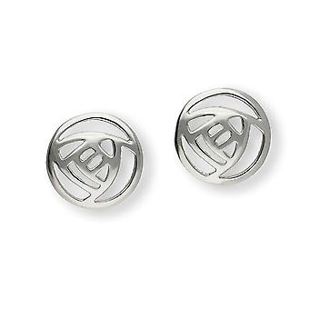 Sterling Silver Scottish Design Charles Rennie Mackintosh design Pair of Earrings - E469