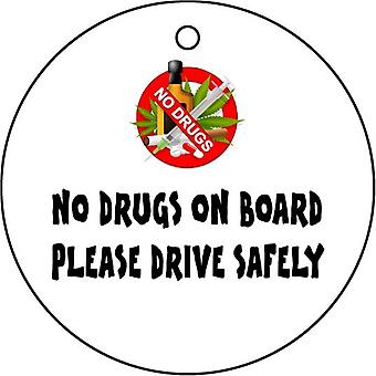 No Drugs On Board Car Air Freshener
