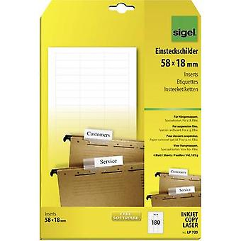 Sigel LP725 Suspension file tag insert 58 mm x 18 mm