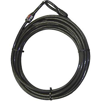 Sikkerhed Plus 0289 stål kabellås sort hængelås sløjfer