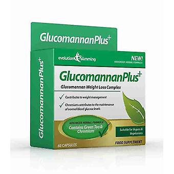 Glucomannan Plus Konjac Appetite Suppressant Capsules - 10 Day Supply (60 Capsules) - Appetite Control - Evolution Slimming