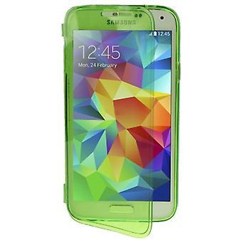 Mobile Shell flip cross for mobil Samsung Galaxy S5 / S5 neo grøn