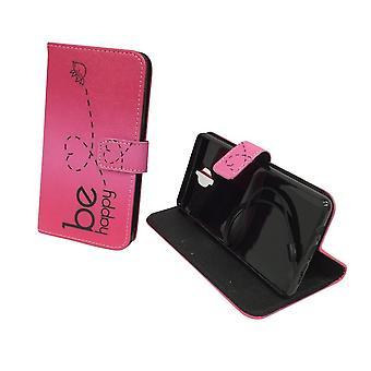 Handyhülle Tasche für Handy OnePlus 3 / Three Be Happy Pink