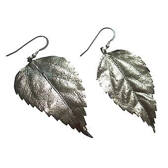 Sølv blad øreringe hibiscus blade øreringe 925 sølv