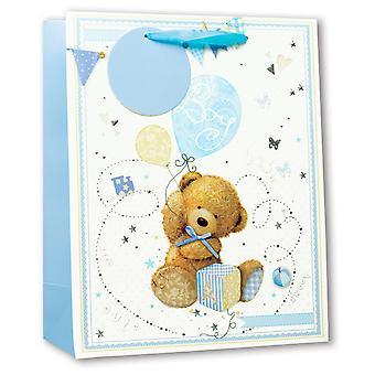 Simon Elvin Baby Boy Glitter Gift Bags (Pack of 6)