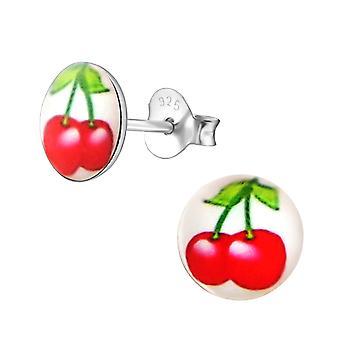 Rosso ciliegia - 925 Sterling Silver orecchini colorati - W19746X
